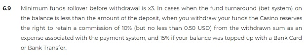 Warunki depozytów / wypłat