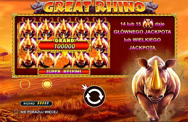 Graj w Great Rhino za darmo!