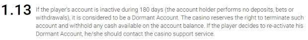 Konto nieaktywne kasyno Betchan
