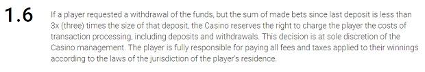 Umowa użytkownika kasyno Betchan