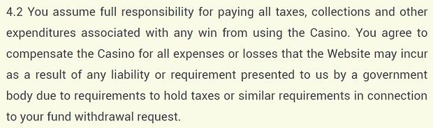 yoyocasino Odpowiedzialność podatkowa