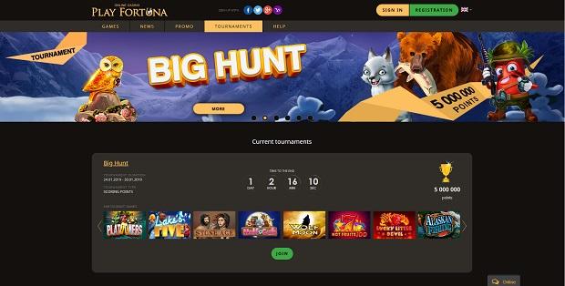 Turnieje playfortuna.com
