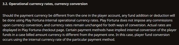playfortuna.com przewalutowanie