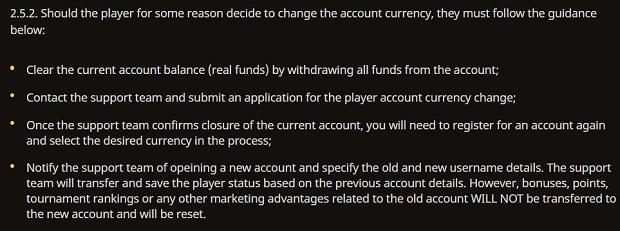Zmiana przypisanej waluty play fortuna