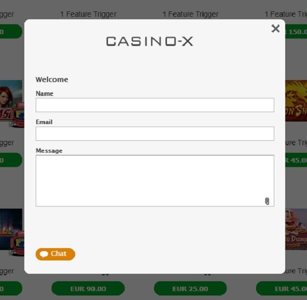 Dział wsparcia w kasynie Casino-X