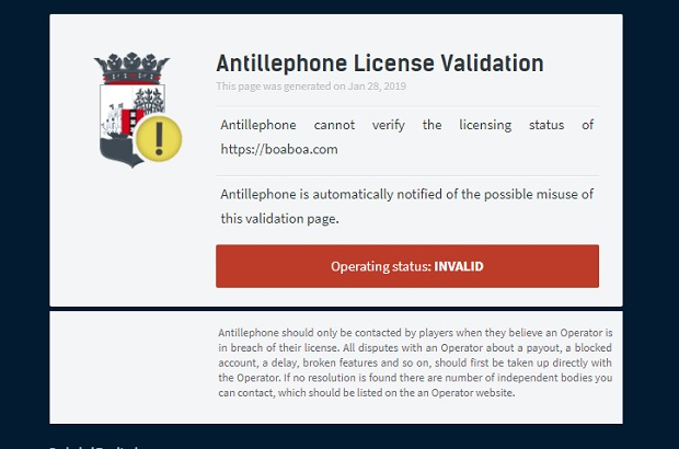 Licencja i podstawa prawna kasyno BoaBoa