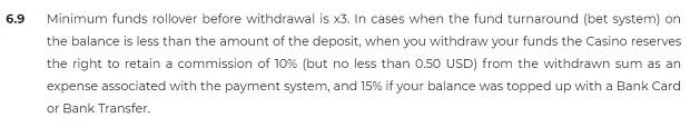 Warunki wypłat I depozytów